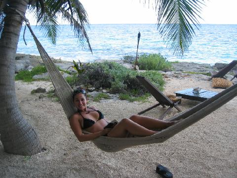 Mel chilling in Tulum Mexico