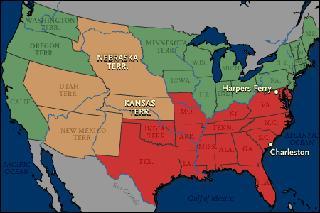 Slave - Free States 1860