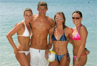 Michael Phelps and the Girls of the Olympics